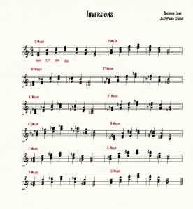 Jazz Piano School Inversions