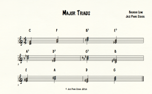 Major-Triads for jazz piano school