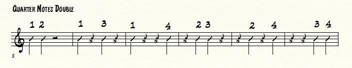 jazz piano school quarter note doubles