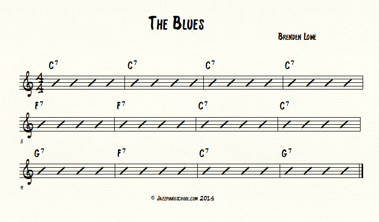 the blues for jazz piano