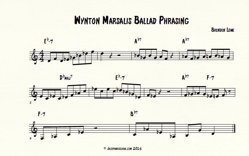 learn jazz piano with Wynton phrasing