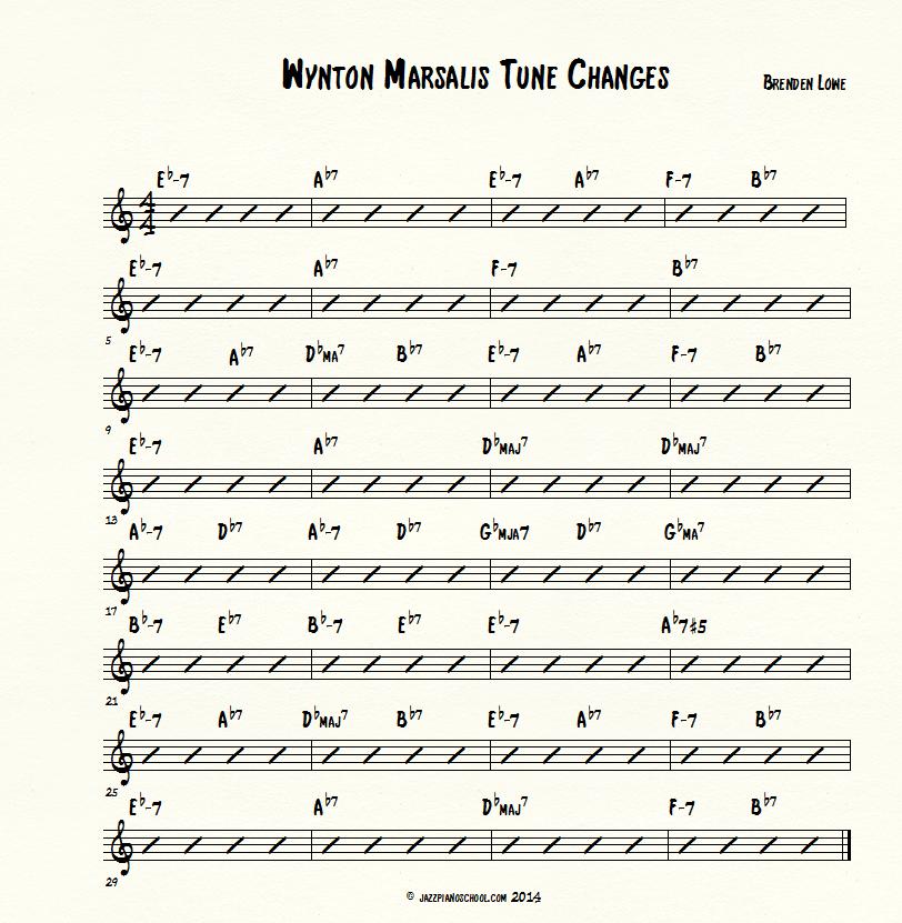 learning jazz piano with Wynton Marsalis