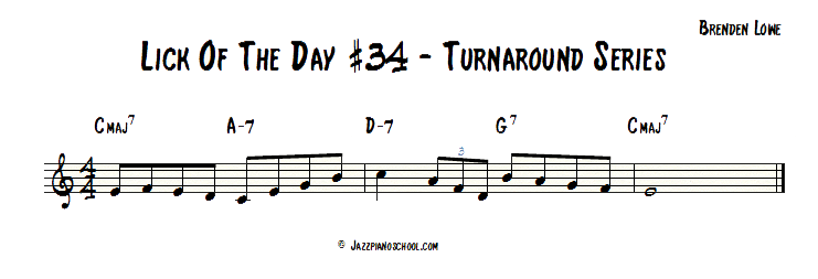 Jazz Piano School Lick Of The Day #34