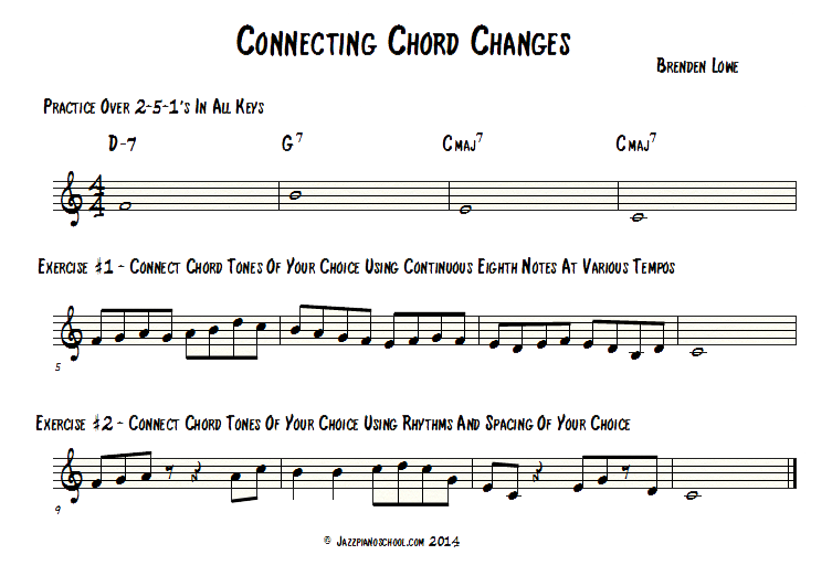 Jazz Piano School, Ep 27 : Connecting Chord Changes In Your Solo
