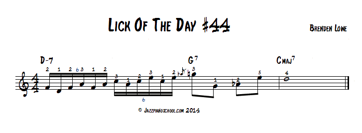 Jazz Piano Lick Of The Day #44 – Ballad Series