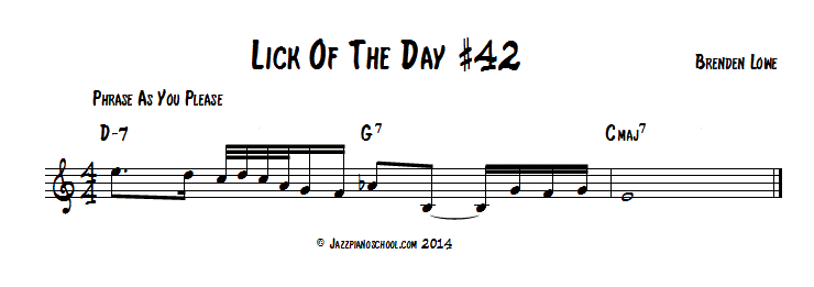 Jazz Piano Lick Of The Day #42