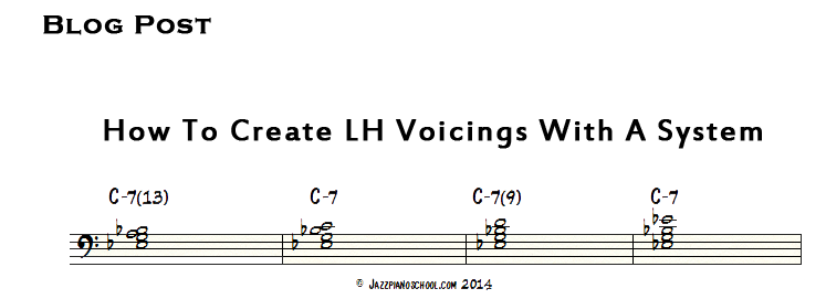 Jazz Piano Voicings Part 1 How To Create Left Hand Voicings