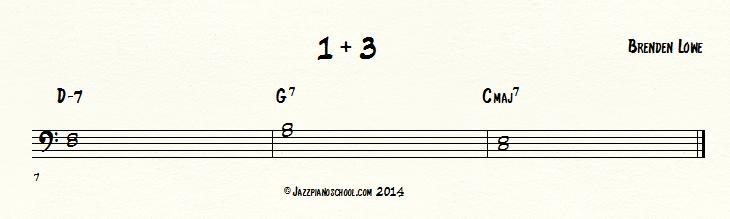 1+3 jazz piano voicing
