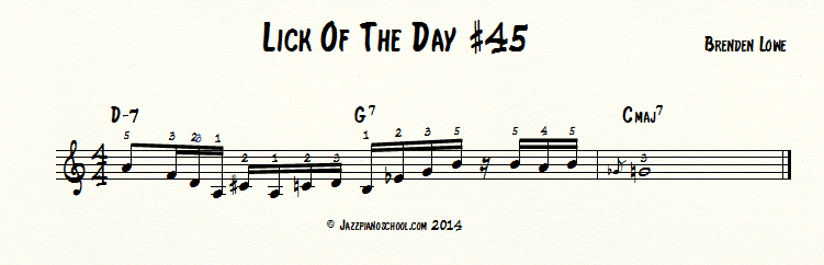 Jazz Piano Lick Of The Day #45-Ballad Series