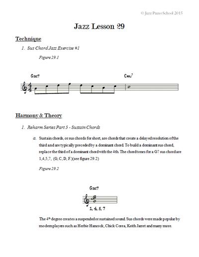 Lesson 29 Intermediate Jazz Piano School