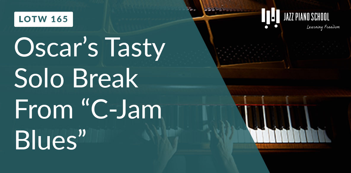 Oscar Peterson's Famous C-Jam Blues Solo Break (LOTW #165)