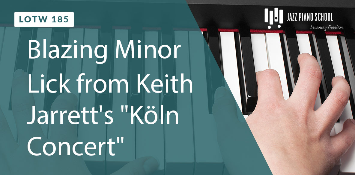 Learn this blazing Minor Lick from Keith Jarrett