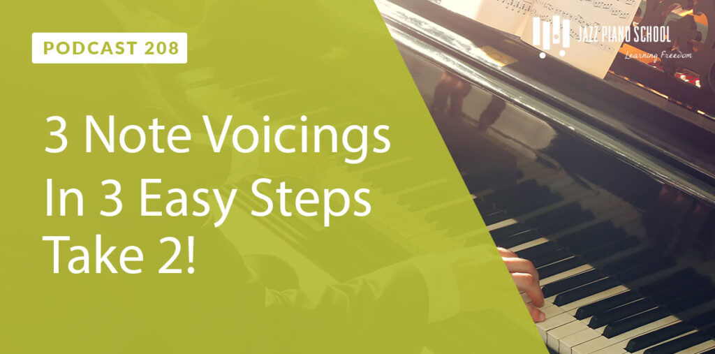 Learn 3 Note Voicings in 3 easy steps take 2
